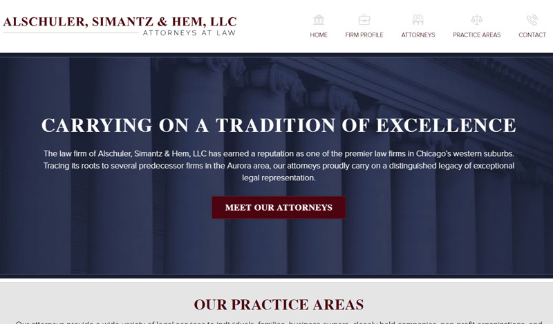 Small Business Attorney Web Design