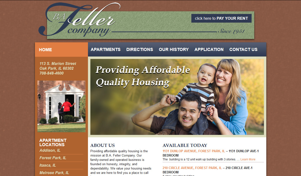 Real Estate Management Web Design