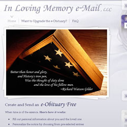 in loving memory mail web design concepts - Web Design Ideas
