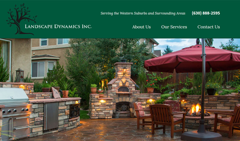 Landscaping Contractor Web Design