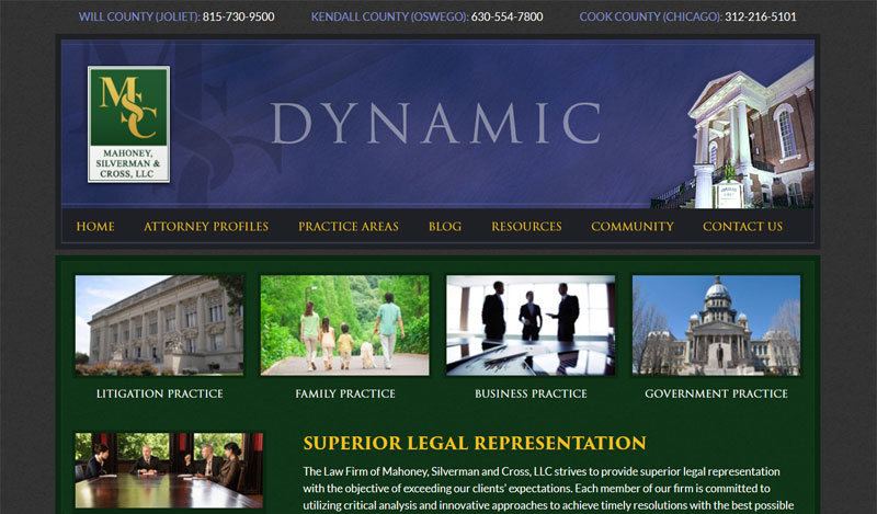 Corporate Lawyer Web Design