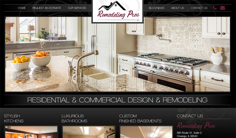 Remodeling Contractor Web Design