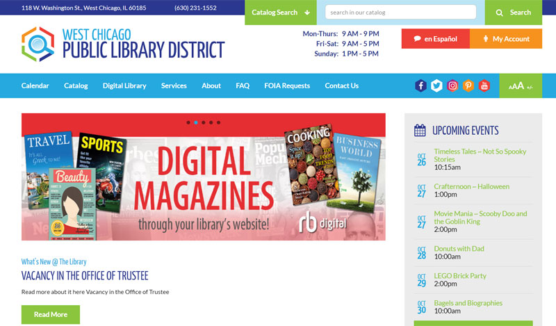 Library District Website Design