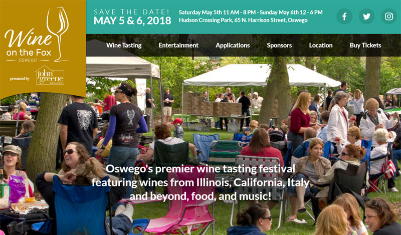 Wine Festival Web Design