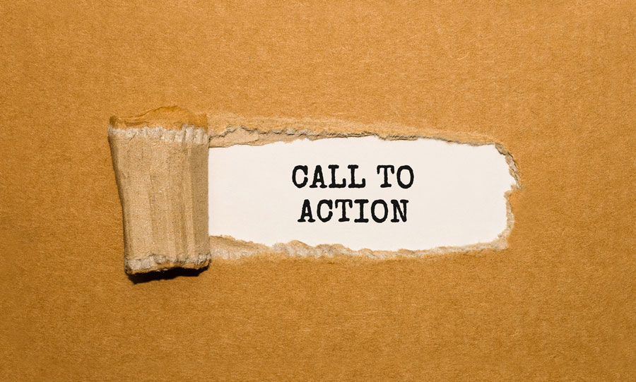 web design call to action