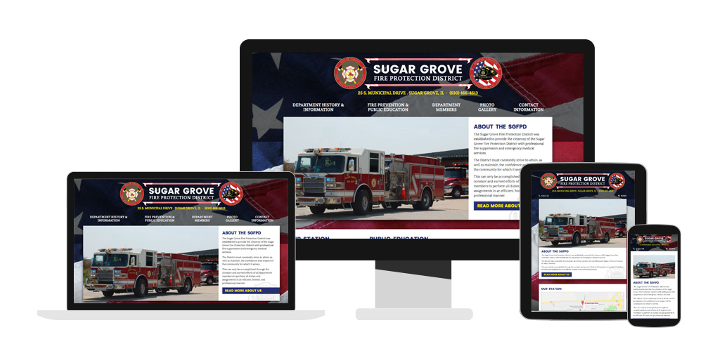 fire department web design