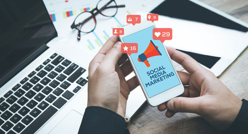 social media marketing business website