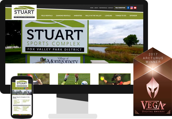 sports facility web design